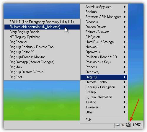 hiren-fixhdc-menu